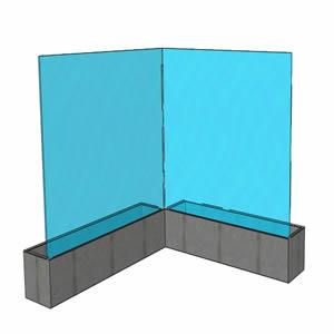 Paravento frangivento fisso bellavista system - Paraventi da esterno ...