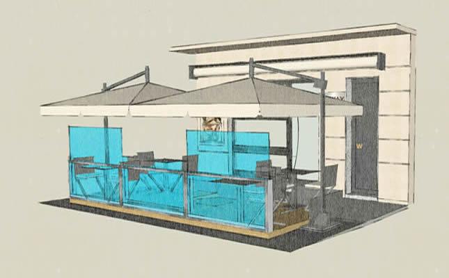 Paravento da esterno in plexiglass for Arredo balcone economico