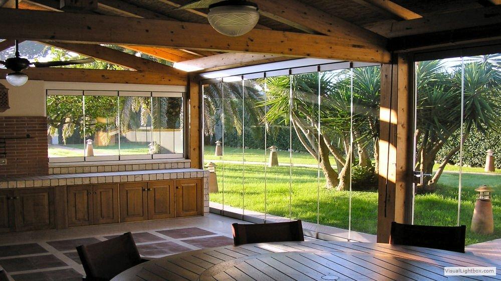 Chiusure di verande terrazzi balconi gazebo giardini d for Piani per gazebo con camino