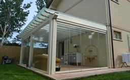 veranda in ferro e legno : 12 visarm 55 1 vetrata a pacchetto struttura in ferro