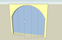 3D glass doors; fitting inside arches