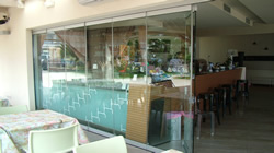 all glass doors for bars