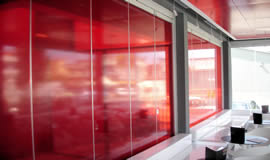 movable glass door partitions for bars